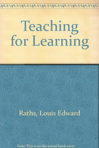 9780675094177: Teaching for Learning (Coordinated teacher preparation series)