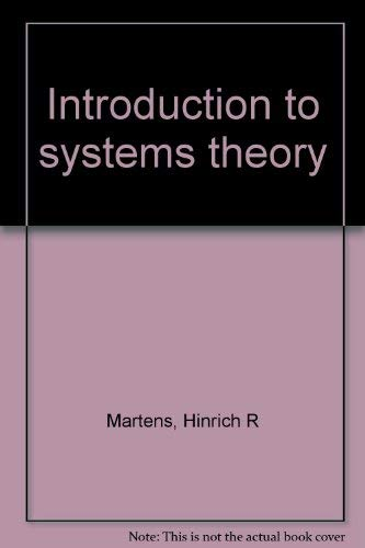 9780675096034: Introduction to systems theory