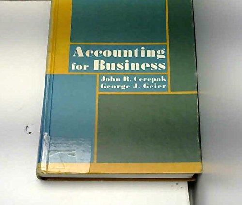 Accounting for business: Cerepak, John R.