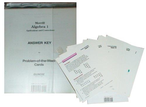 9780675131230: Merrill Algebra 1 Problem of the Week Cards