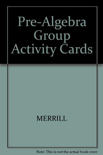 9780675131414: Pre-Algebra Group Activity Cards