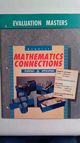 Mathematics Connections-Essentials & Applications: Evaluation Masters With Answer Keys (1992 ...