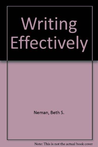 9780675200479: Writing Effectively