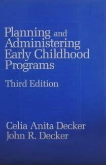 9780675201162: Planning and Administrating Early Childhood Programmes