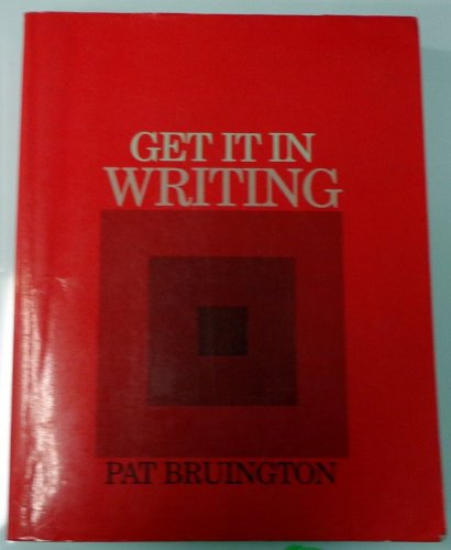Get It in Writing: Bruington, Pat