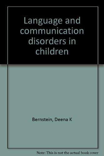 9780675202671: Language and communication disorders in children