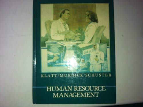 HUMAN RESOURCE MANAGEMENT: Klatt Murdick Schuster