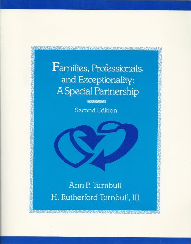 9780675204842: Families, Professionals, and Exceptionality: A Special Partnership
