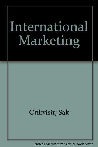 9780675205566: International Marketing