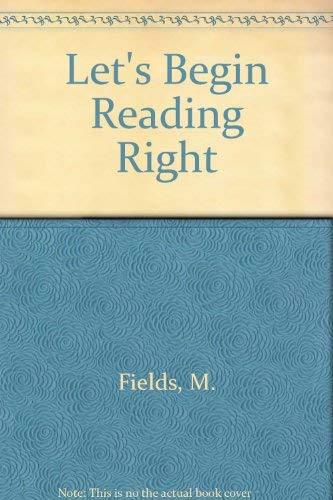 9780675206167: Let's Begin Reading Right