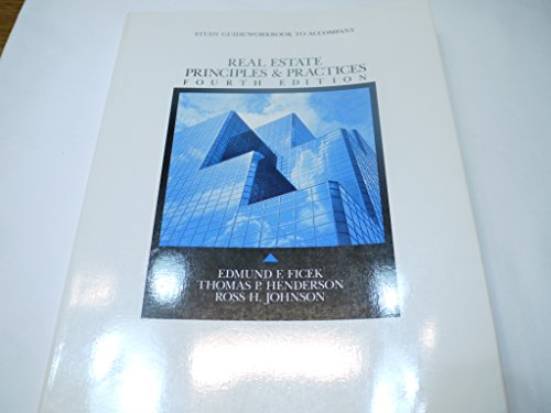 9780675207270: Real Estate Principles and Practices: Student Study Guide/Workbook