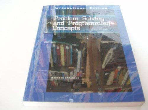 9780675208673: Problem Solving and Programming Concepts (The Merrill Series in Computer and Information Systems)