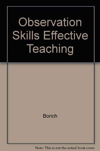 9780675209274: Observation Skills Effective Teaching