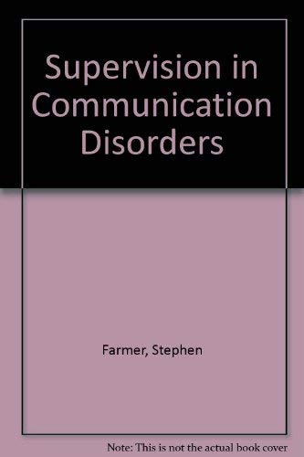 9780675209632: Supervision in Communication Disorders