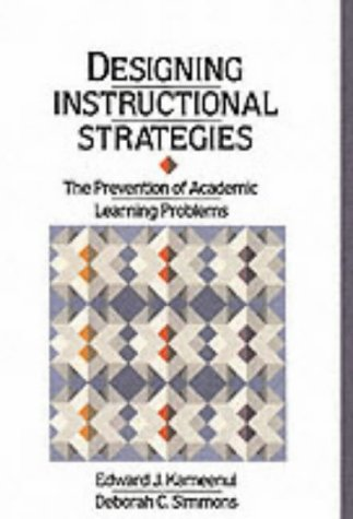 9780675210041: Designing Instructional Strategies: The Prevention of Academic Learning Problem