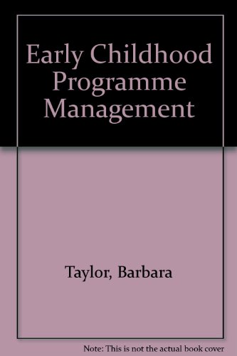 9780675210775: Early Childhood Program Management: People and Procedures