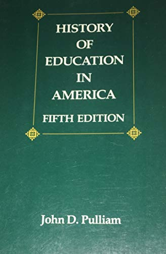 9780675212229: History of Education in America