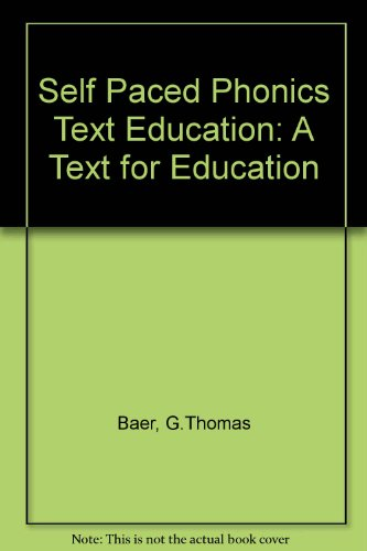9780675212465: Self Paced Phonics: A Text for Education