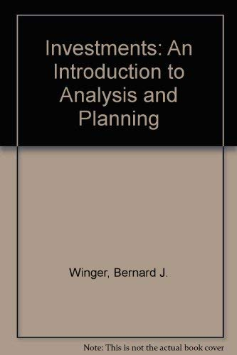 9780675212793: Investments: An Introduction to Analysis and Planning