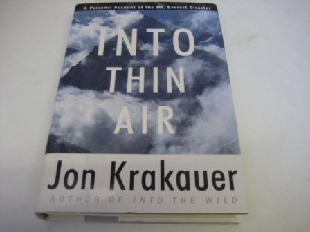 9780676543148: Into Thin Air: A Personal Account of the Mount Everest Disaster