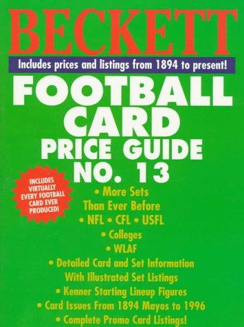 9780676600605: Beckett Football Card Price Guide