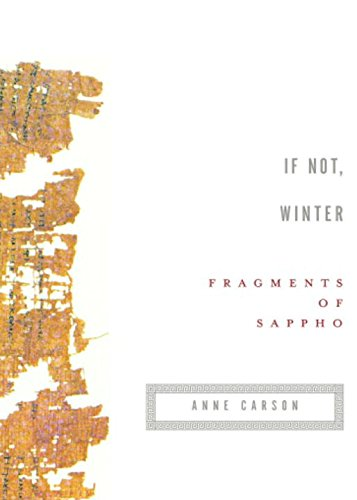 9780676976083: If Not, Winter: Fragments of Sappho
