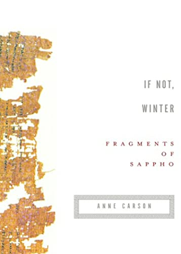 9780676976083: If Not, Winter - Fragments Of Sappho