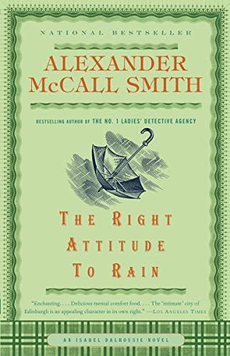 9780676976670: The Right Attitude to Rain: Book 3 (The Isabel Dalhousie Series)