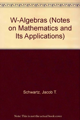 9780677006703: W-Algebras (Notes on Mathematics and Its Applications)