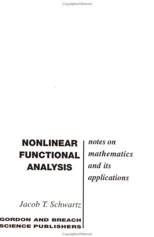 9780677015002: Nonlinear Functional Analysis (Notes on Mathematics and It Applications)