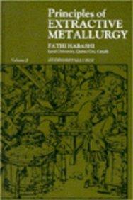 9780677017808: Principles of Extractive Metallurgy. Volume 2: Hydrometallurgy