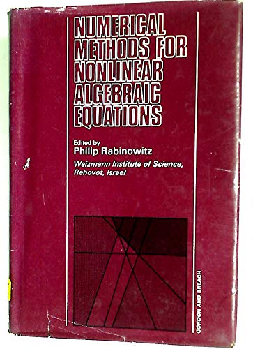 9780677142302: Numerical Methods for Nonlinear Algebraic Equations
