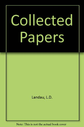 9780677205502: Collected Papers of L. D. Landau