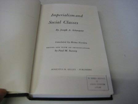 9780678000205: Imperialism and Social Classes