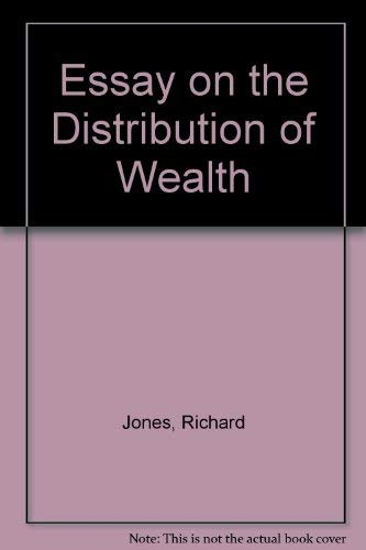 9780678000434: Essay on the Distribution of Wealth