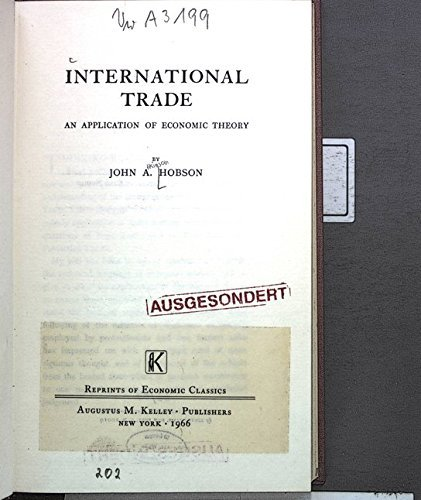 9780678001790: International Trade