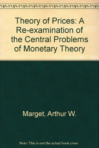 9780678001844: Theory of Prices