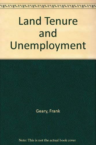 9780678005095: Land Tenure and Unemployment