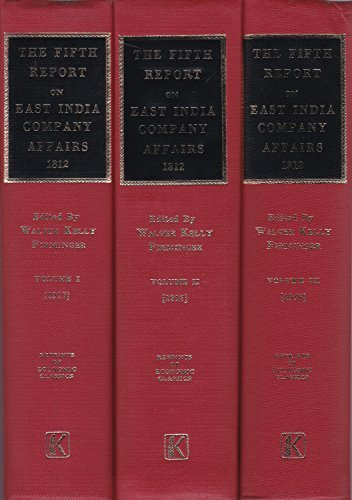 9780678005200: East India Company: Fifth Report from the Select Committee of the House of Commons (Reprints of economic classics)
