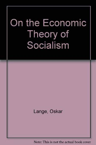 9780678006139: On the Economic Theory of Socialism