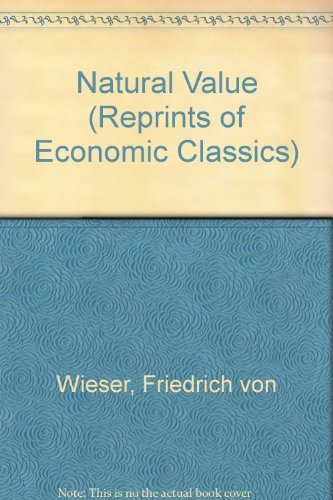 9780678008218: Natural Value (Reprints of Economic Classics)