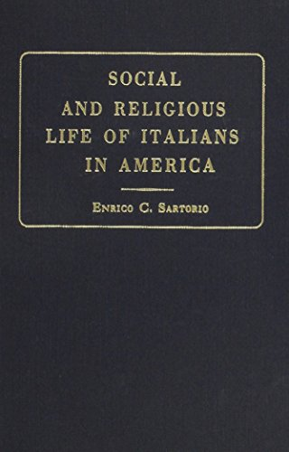 9780678013649: Social & Religious Life of Italians in America