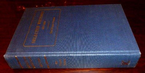 9780678037508: Selected writings, 1877-1930 (Medicina classica)