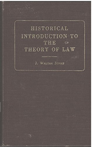 9780678045343: Historical Introduction to the Theory of Law