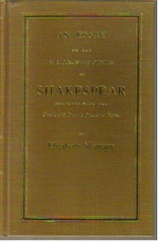 Essay on the Writings & Genius of Shakespeare (Eighteenth Century Shakespeare): Elizabeth ...