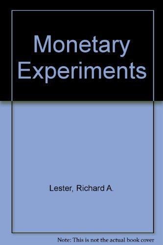 9780678055472: Monetary Experiments (Reprints of economic classics)