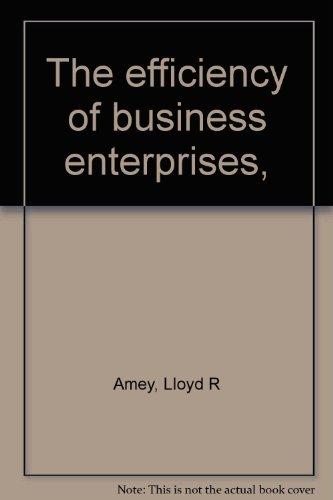 9780678060070: The efficiency of business enterprises,