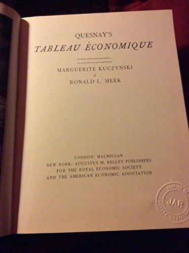 9780678070079: Tableau Economique