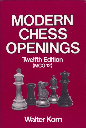 9780679141068: Modern Chess Openings: 12th Edition (MCO 12