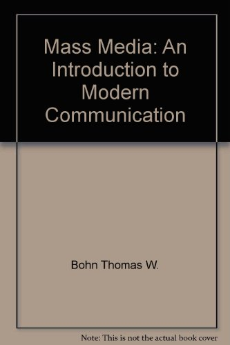 9780679302377: Mass media: An introduction to modern communication